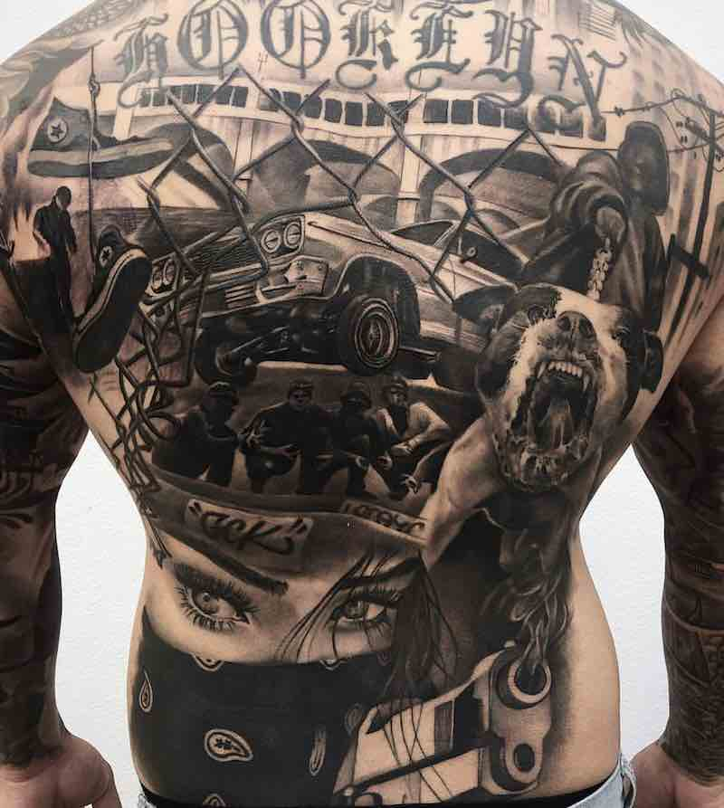 Mens Back Tattoos by ZB Tattoos