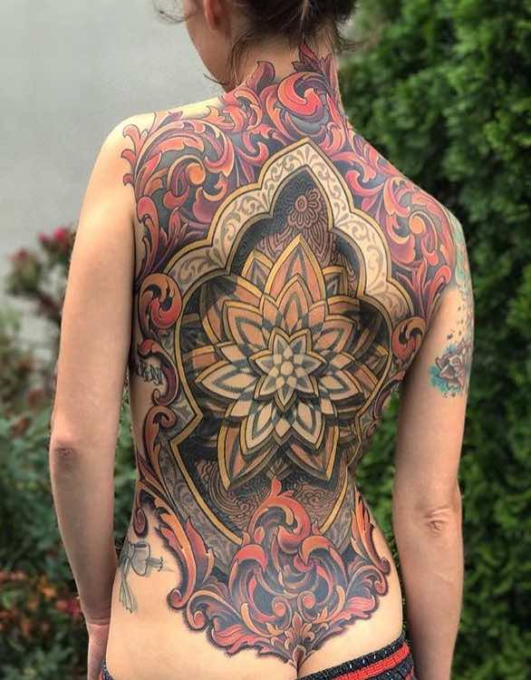 Womens Back Tattoos by Russ Abbott and Savannah Colleen