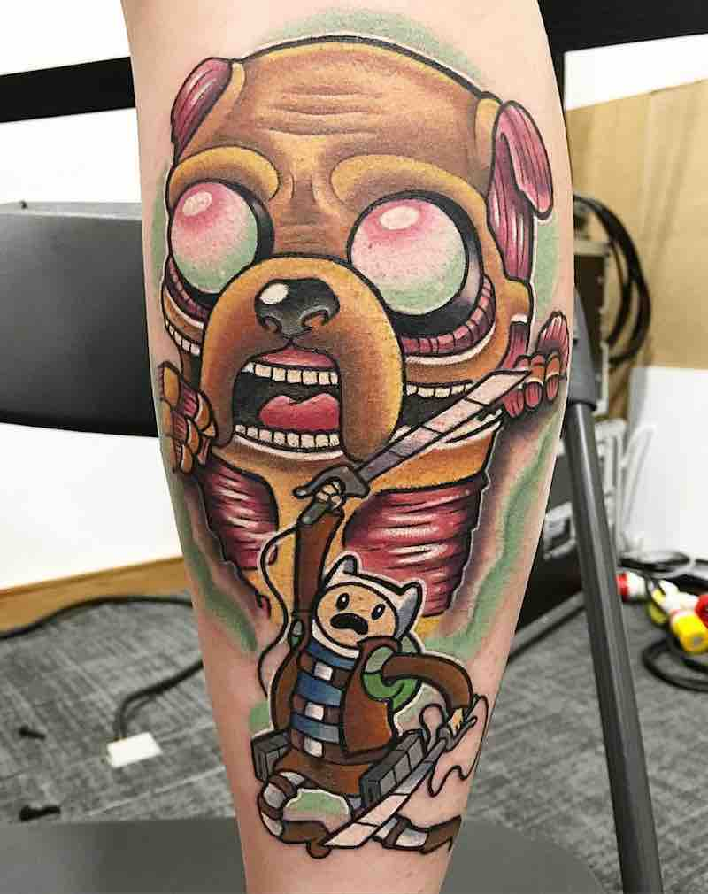 Adventure Time Tattoo 3 by Chris Hill