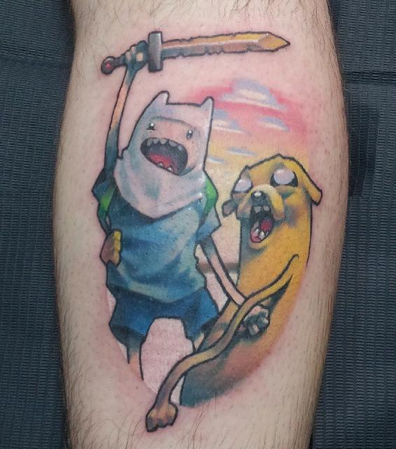 Adventure Time Tattoo 6 by Simon K Bell
