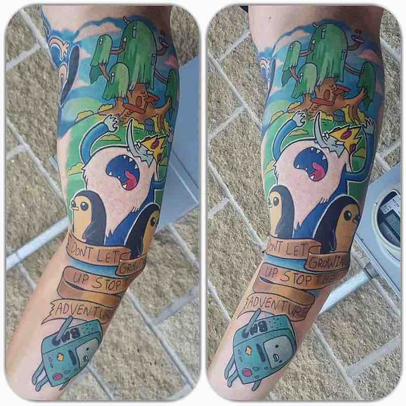 Adventure Time Tattoo by Andrew Douglas