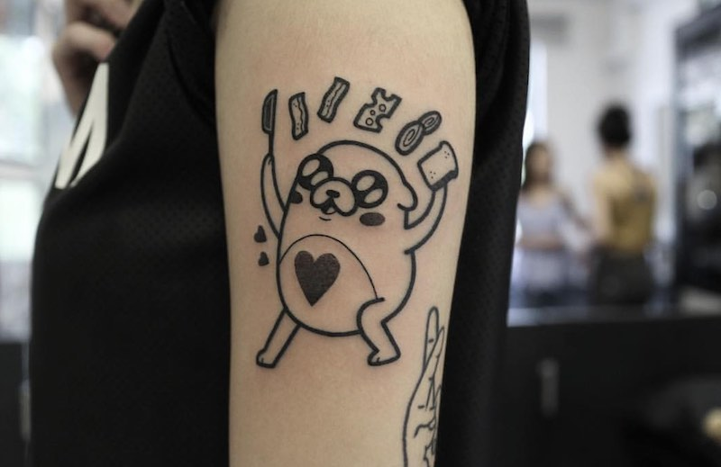 Adventure Time Tattoo by Hugo Tattooer