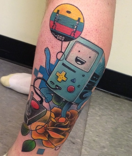 Adventure Time Tattoo by Joshua Ross