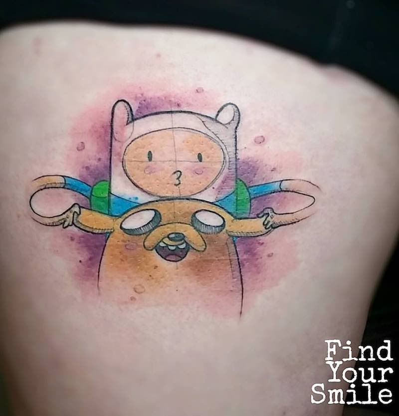 Adventure Time Tattoo by Russell Van Schaick