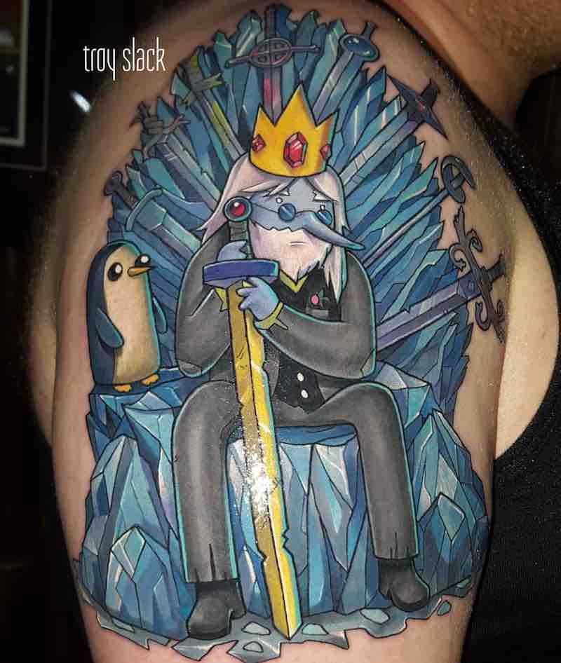 Adventure Time Tattoo by Troy Slack
