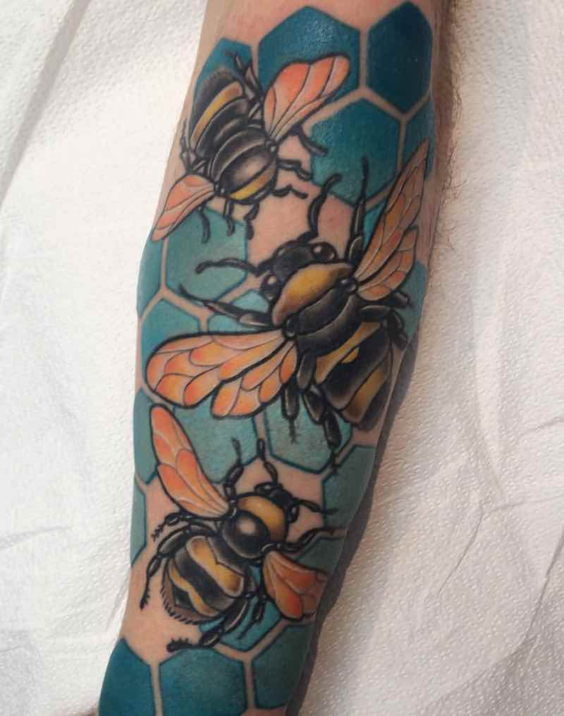 Bee Tattoo 7 by Patrick Whiting