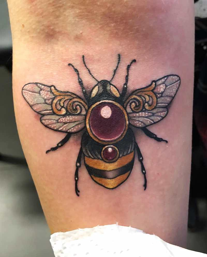 Bee Tattoo by Arielle Gagnon