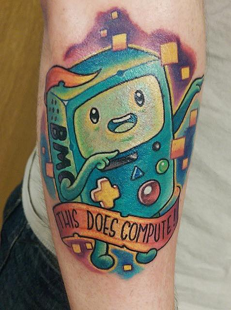 Bmo Adventure Time Tattoo 3 by Chris Hill
