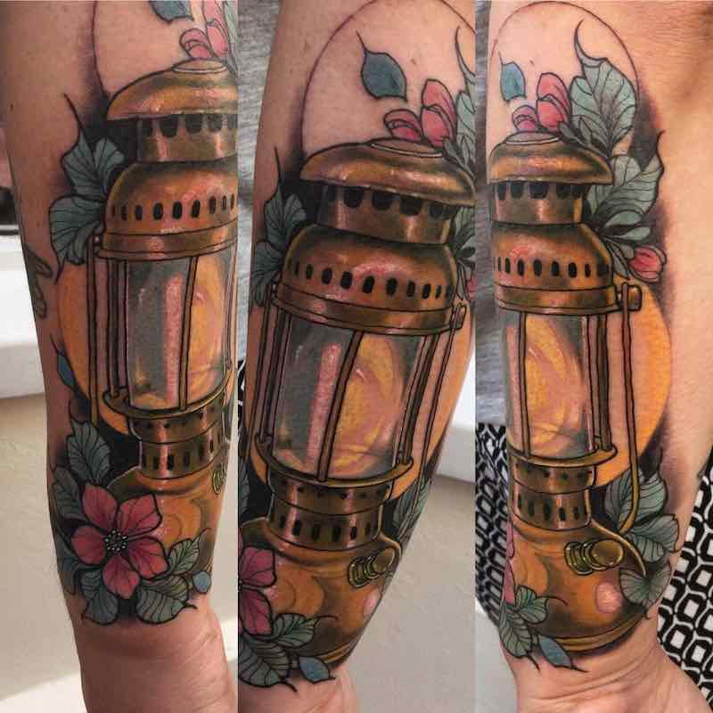 Lamp Tattoo by Summer Heath