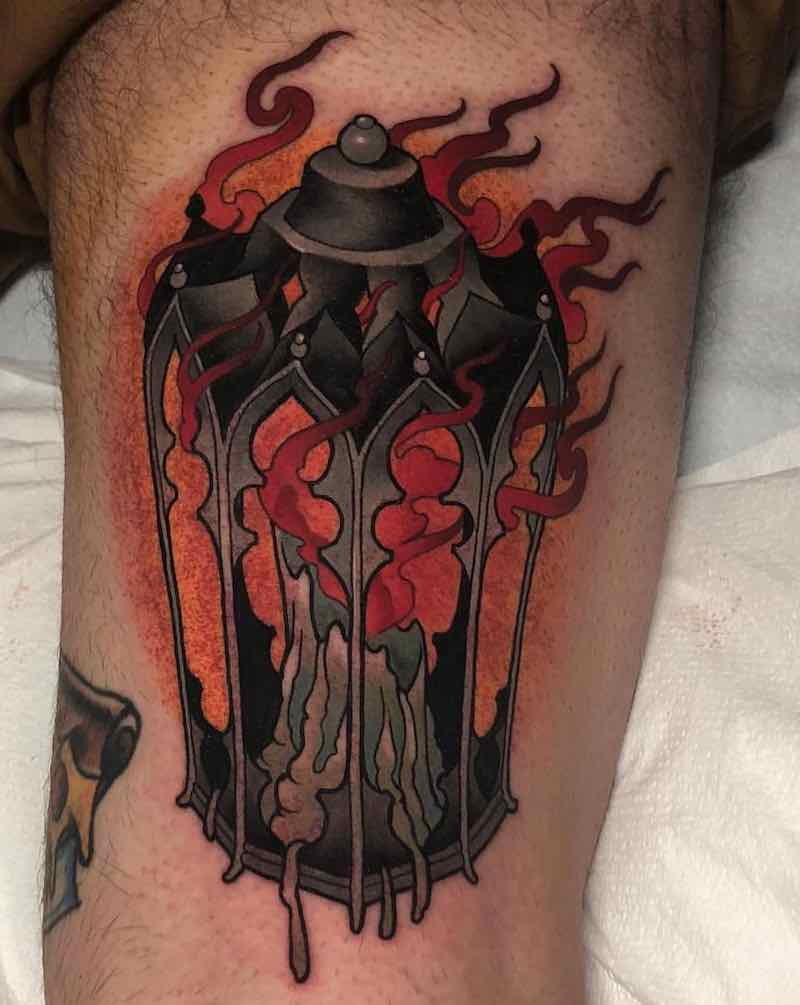 Lantern Tattoo 2 by Billy Weigler