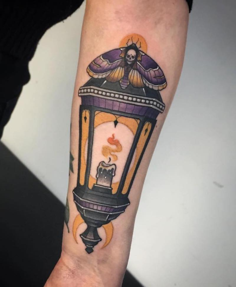 Lantern Tattoo 3 by Fraser Peek