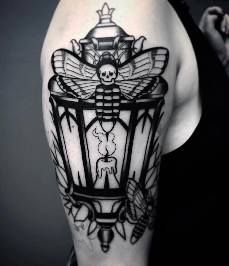 Lantern Tattoo 3 by Patrick Whiting