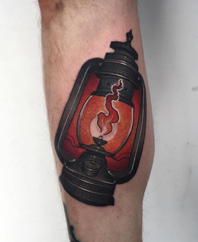 Lantern Tattoo 4 by Fraser Peek