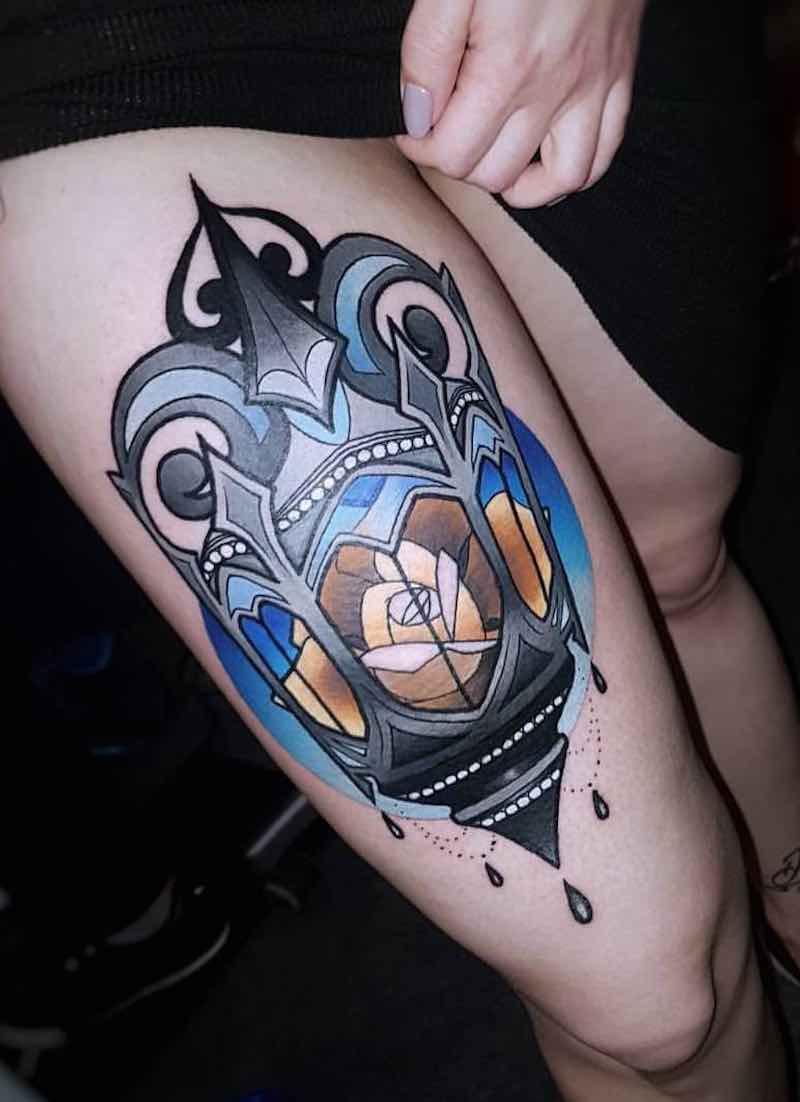 Lantern Tattoo 4 by Laura Konieczna