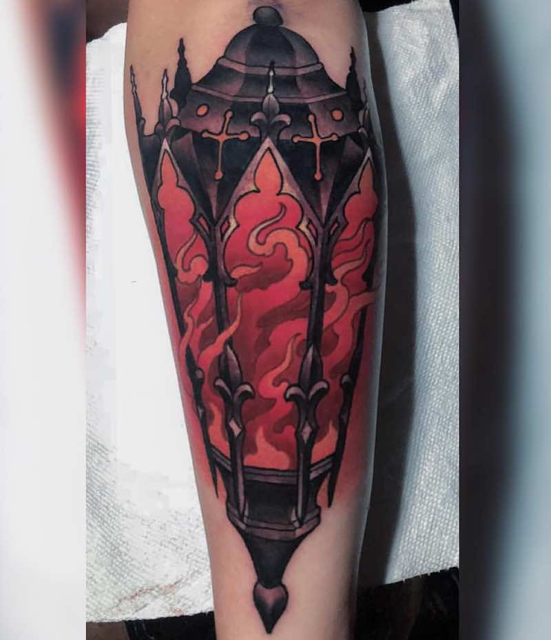 Lantern Tattoo by Billy Weigler
