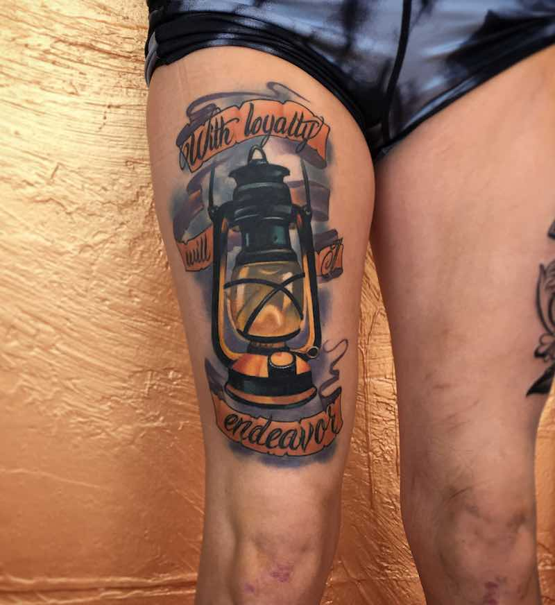 Lantern Tattoo by Branden Noetzel