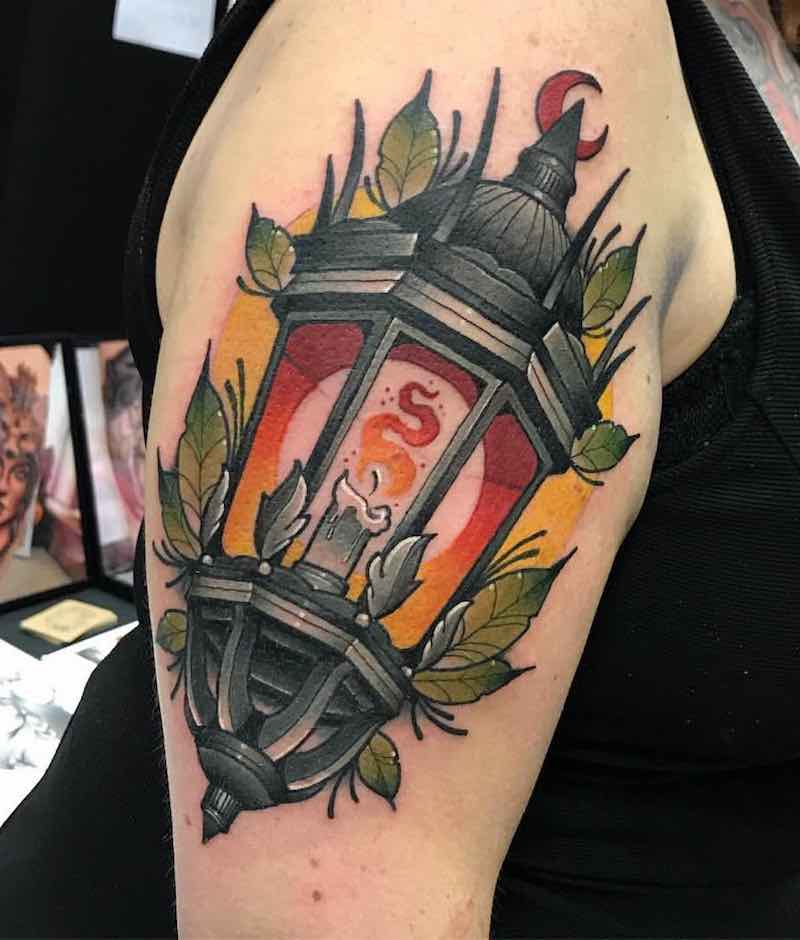 Lantern Tattoo by Fraser Peek