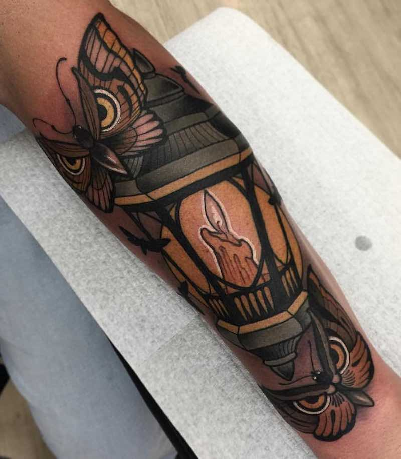 Lantern Tattoo by Heath Clifford