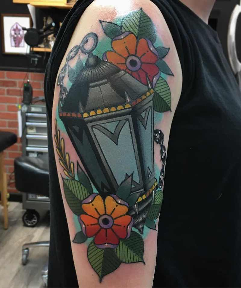Lantern Tattoo by Keith Kuzara