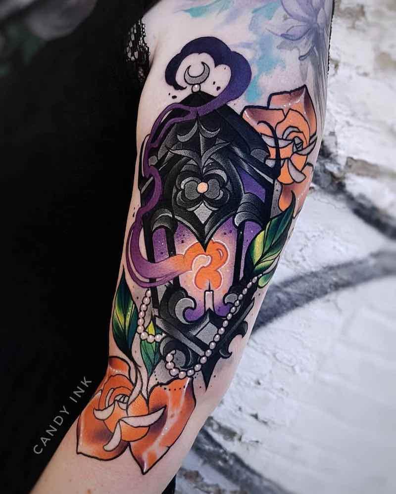 Lantern Tattoo by Laura Konieczna