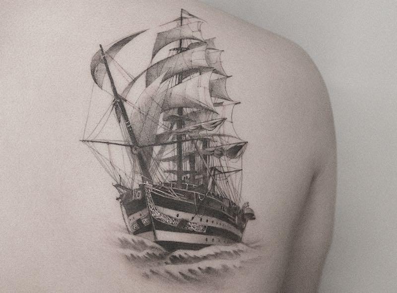 Explore 44 Stunning Ship Tattoos