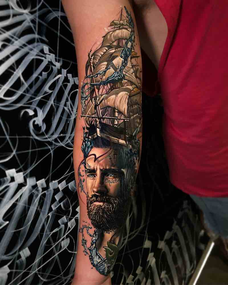 Ship Tattoo by Ben Kaye