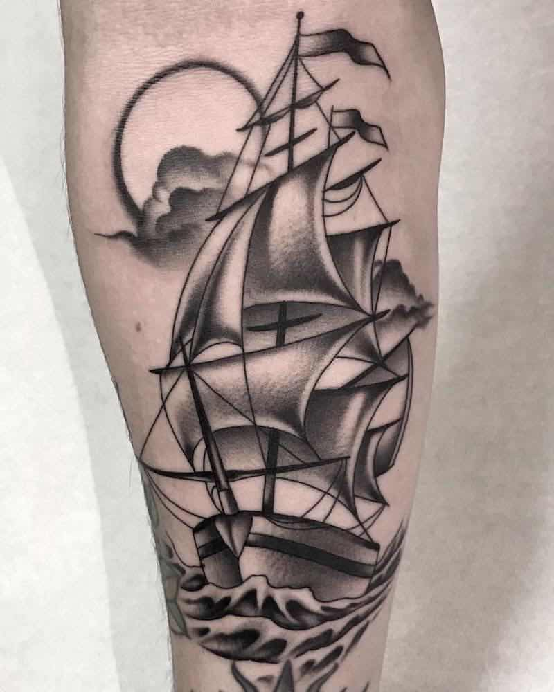 Ship Tattoo by Fulvio Vaccarone