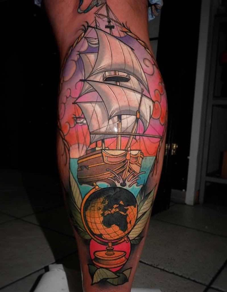 Ship Tattoo by Myrhwan Cortes