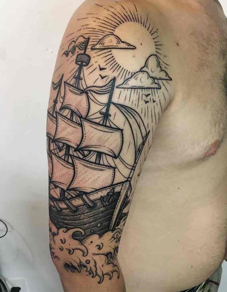 Ship Tattoo by Nhat Be