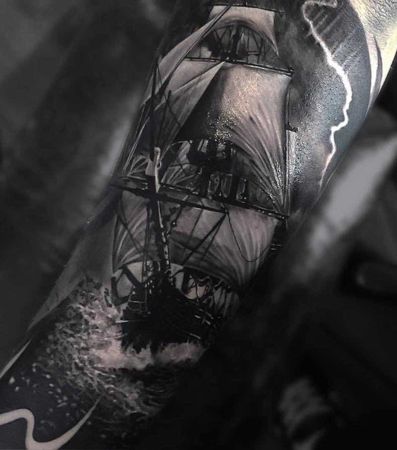 Ship Tattoo by Owen Paulls