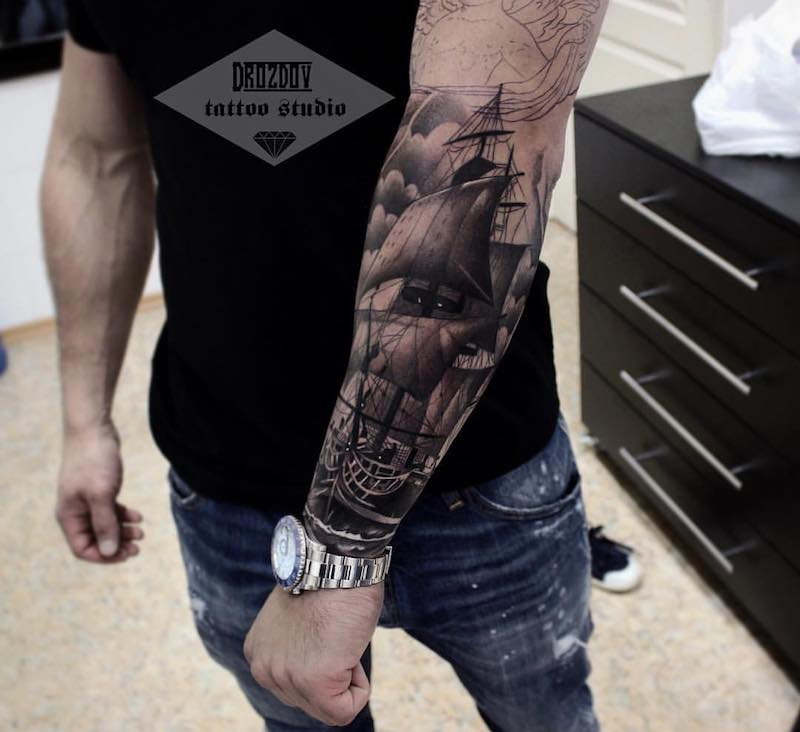 Ship Tattoo by Vladimir Drozdov