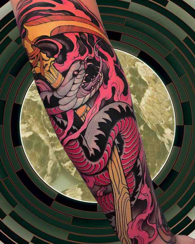 Snake Tattoo by Alan Ferioli
