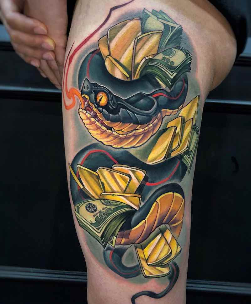 Snake Tattoo by Camoz