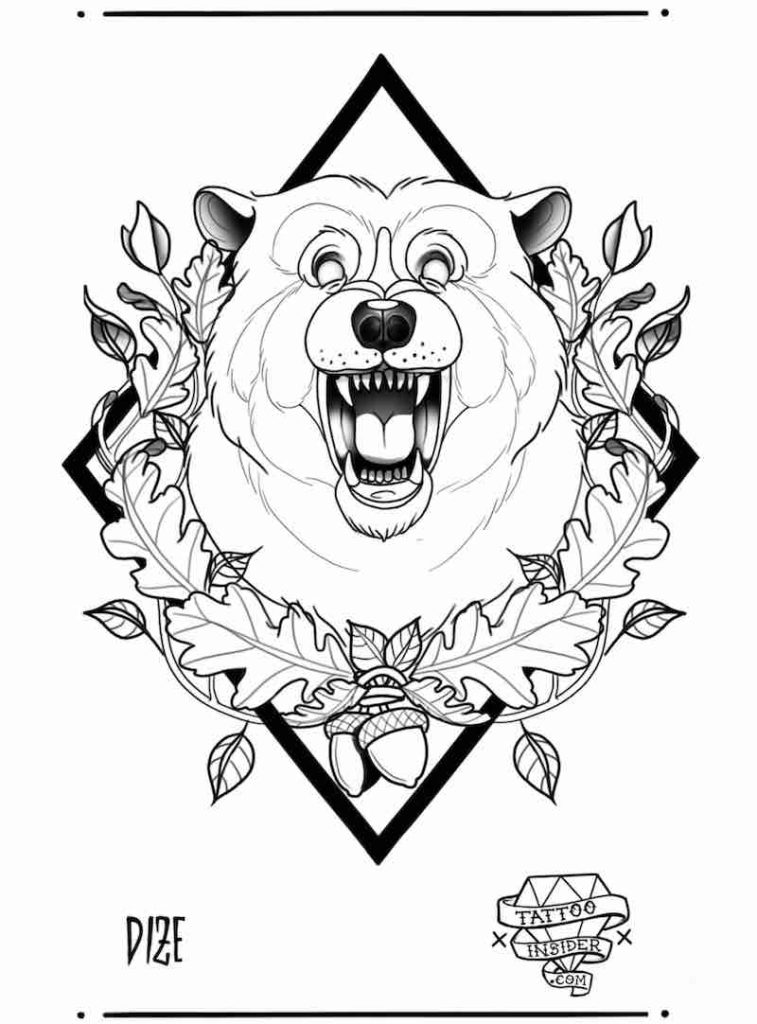 Bear Tattoo Design by Dize