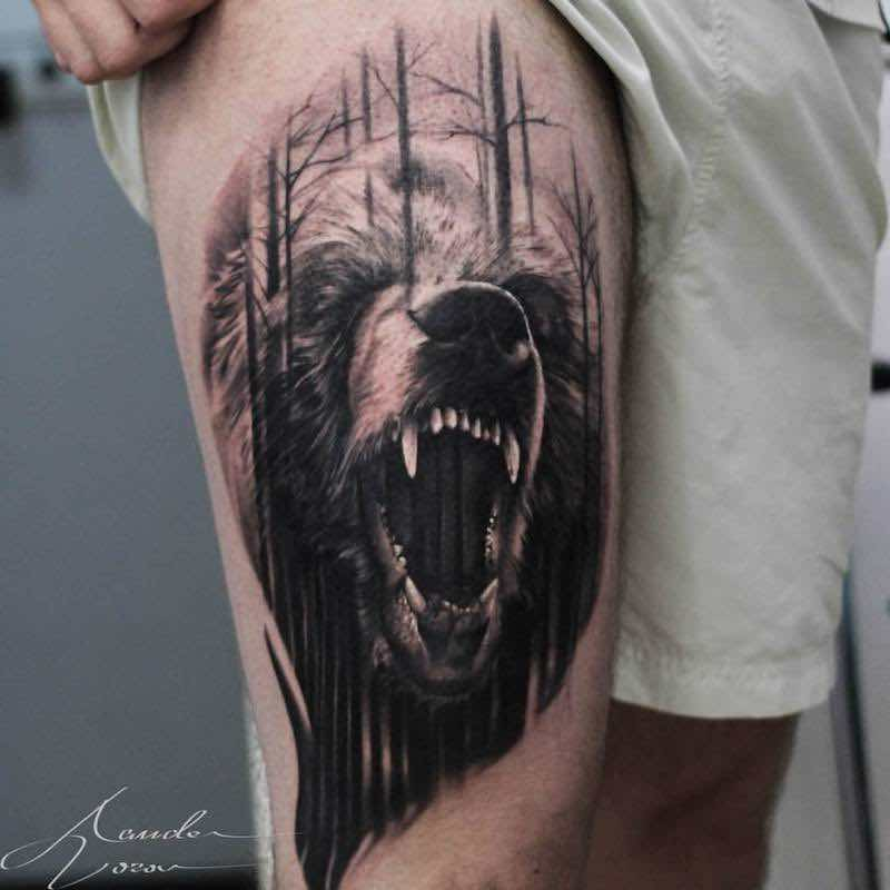 Bear Tattoo by Alexander Voron
