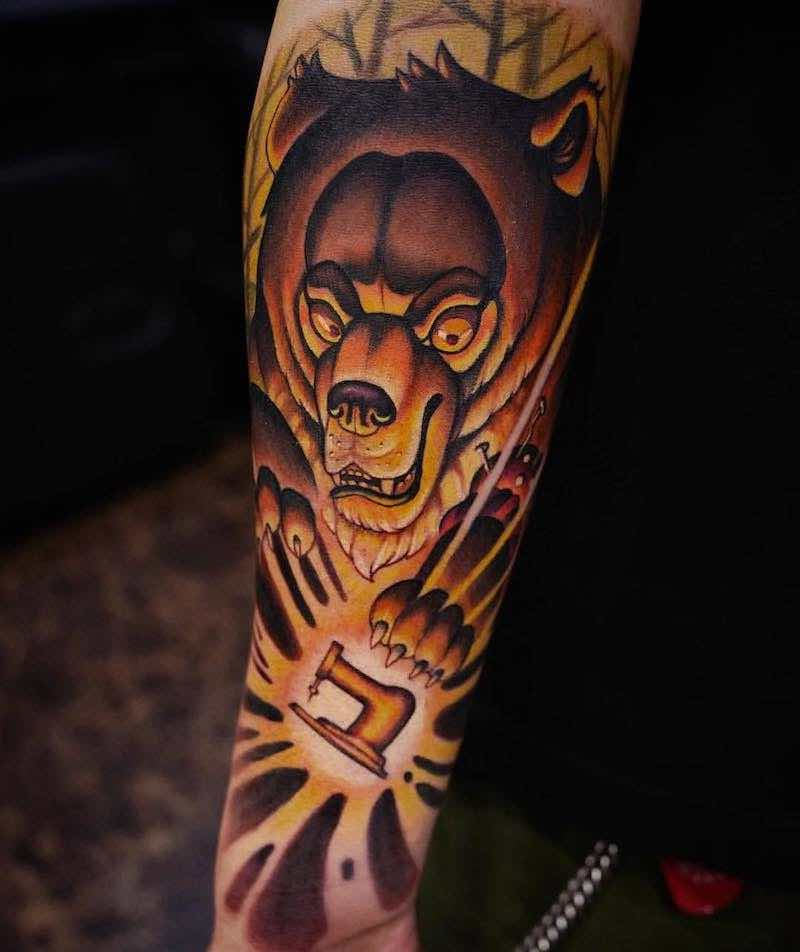 Bear Tattoo by Camoz