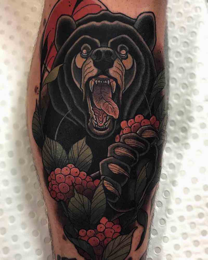 Bear Tattoo by Drew Shallis