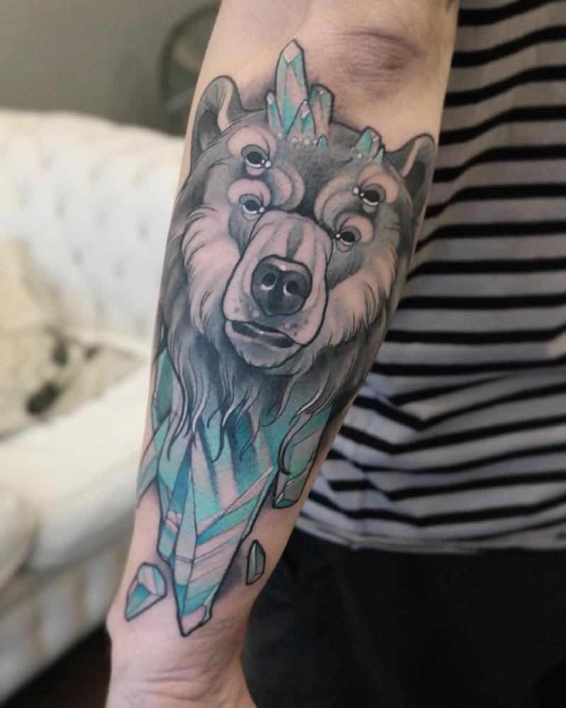 Bear Tattoo by Gianpiero Cavaliere