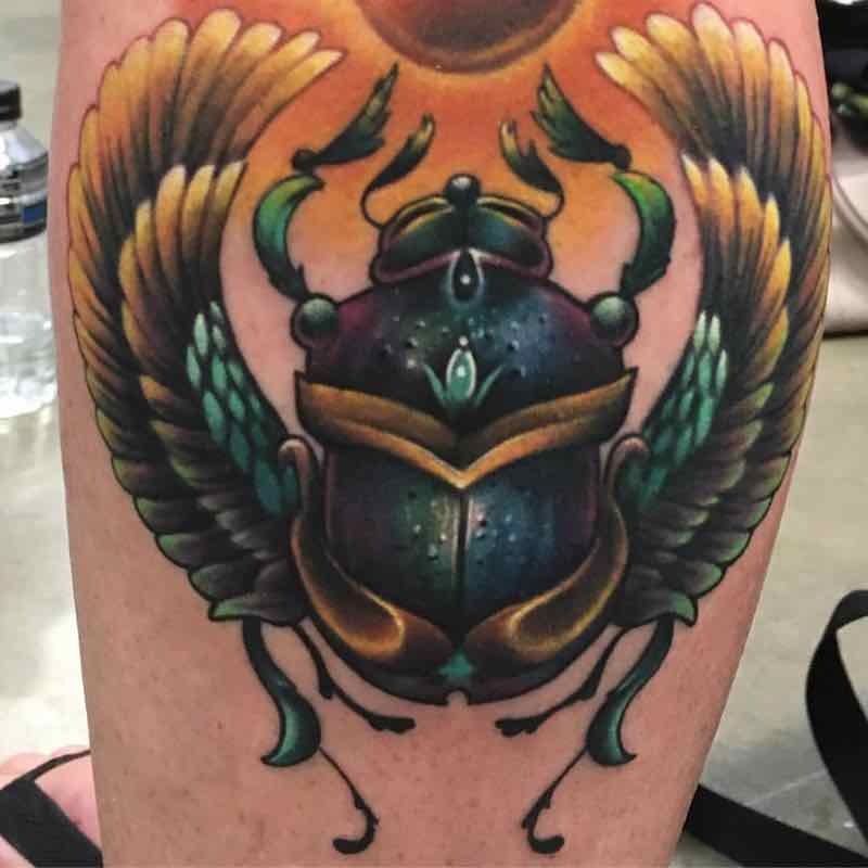Beetle Tattoo by Kyle Cotterman