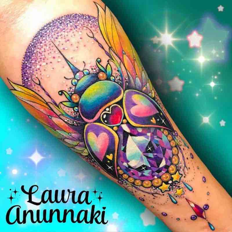 Beetle Tattoo by Laura Anunnaki