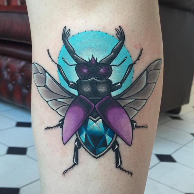 Beetle Tattoo by Michelle Maddison