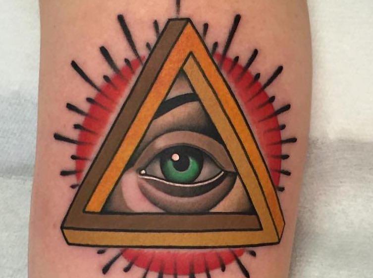Eye Tattoo Design by Fulvio Vaccarone