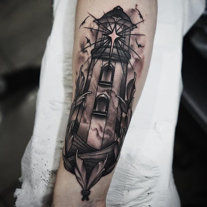 Lighthouse Tattoo by Jason James Smith