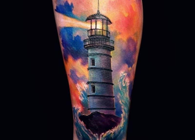 Lighthouse Tattoo by Russell Van Schaick c