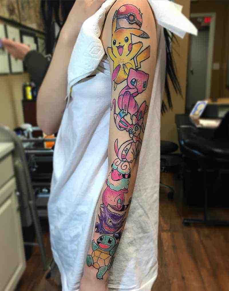 Pokemon Tattoo by Alexis Crane