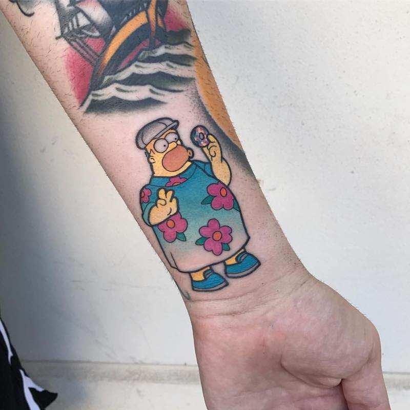 Simpsons Tattoo 2 by Michela Bottin
