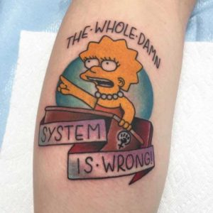 Simpsons Tattoo by Marius Klaue
