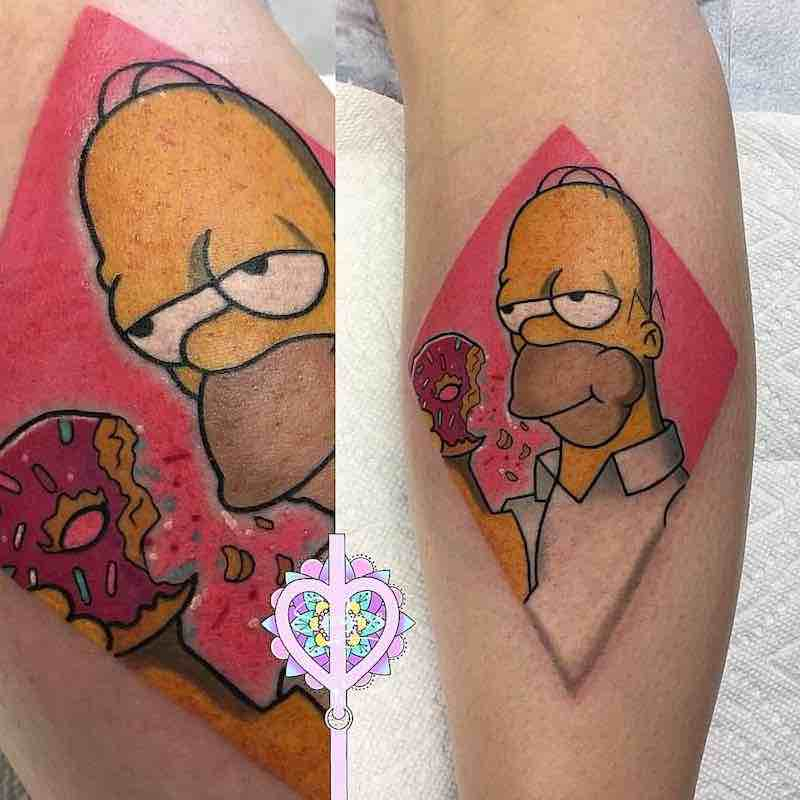 Simpsons Tattoo by Sarai
