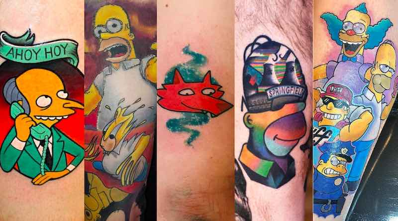 The Simpsons Tattoos cover