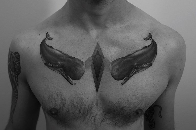 Whale Tattoo by Paweł Indulski